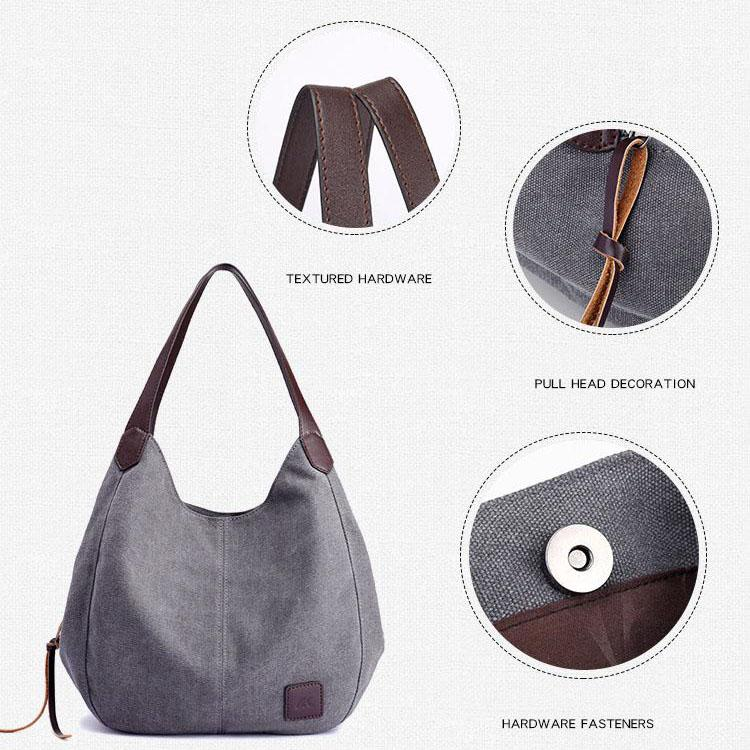 Fashion Multi-compartment Casual Hobo Bag