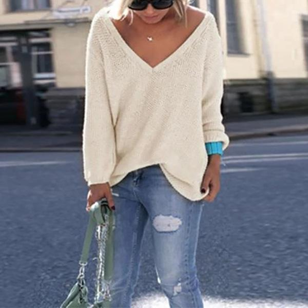 Women Long Sleeve Plain Casual Blouses