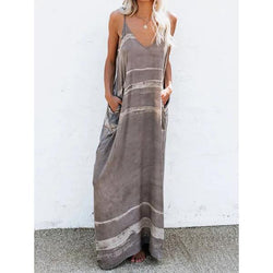 Women's Pocket Summer Casual Strap Dresses