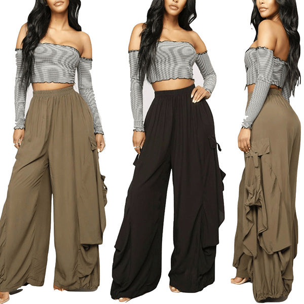 Women Casual Loose Pants  Wide Leg Trousers