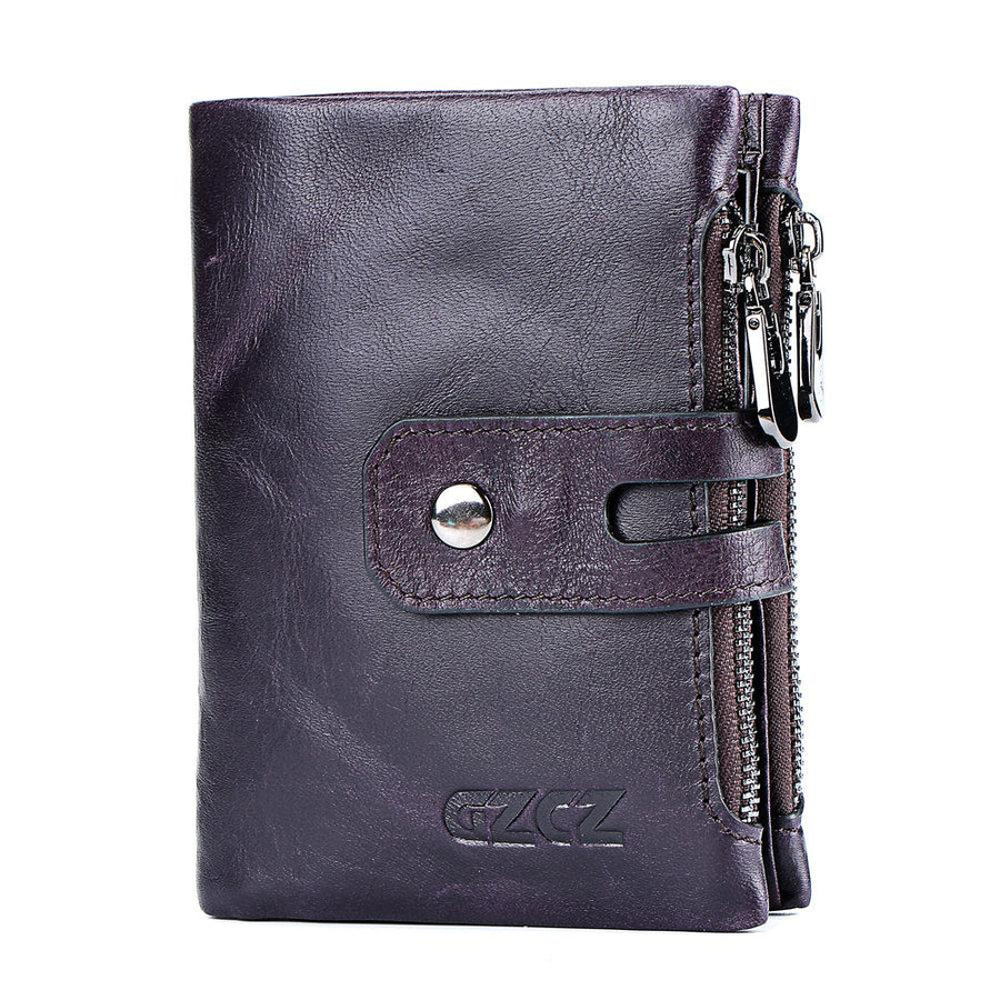 Genuine Leather Wallet Coin Purse Card Holder