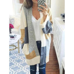Colorful V-Neck Cardigan Casual Coats