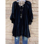 Casual Ruffled Solid frill sleeve Asymmetrical Plus Size Blouse