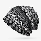 Womens Summer Ethnic Printting Beanie Hats Scarf Cotton Double Use Turban Caps