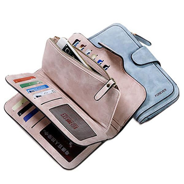 Frosted 14 Card Purse Multi Card Slots Phone Bag