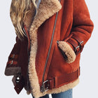 Women Fashion Sexy Fleece Wool Fur Jacket