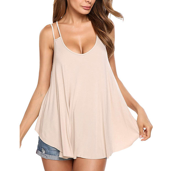 Summer Sexy Vest Double Strap Tank Top