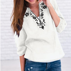 Summer Sexy V Neck Loose Shirt