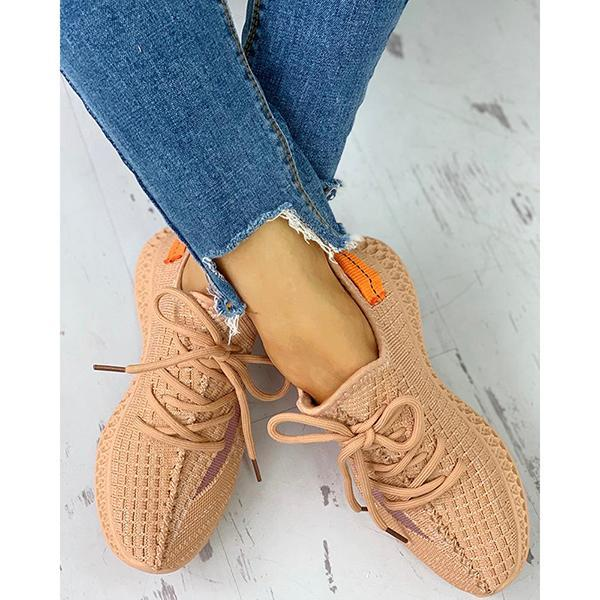 Women's Breathable Lace-Up Sneakers