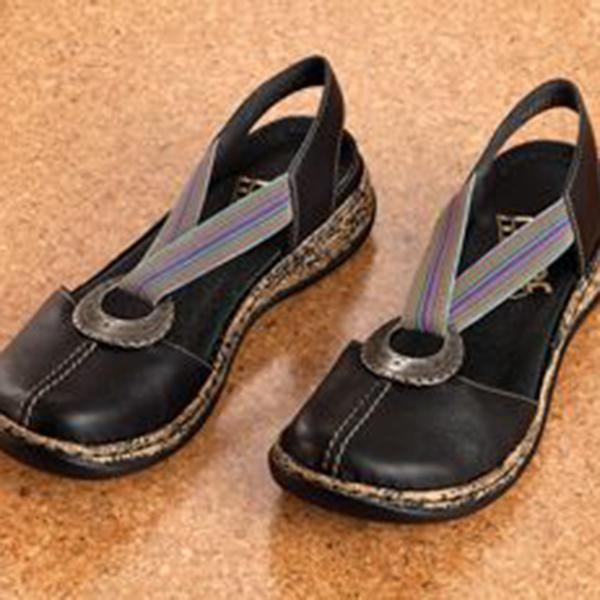 Women Artificial Leather Soft Flat Shoes