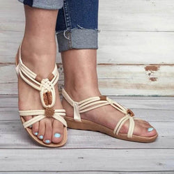Bohemia Clip Toe Weaving Flat Sandals
