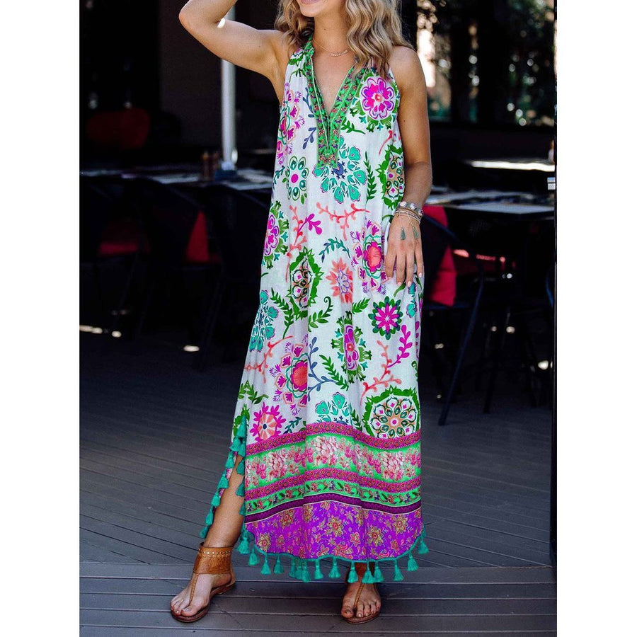 Women's Summer Fashion Printed Sleeveless Dress