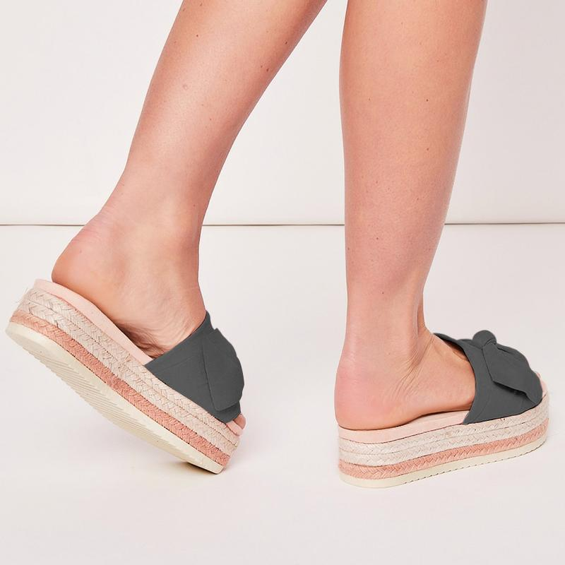 Women Bow Espadrilles Platform Shoes
