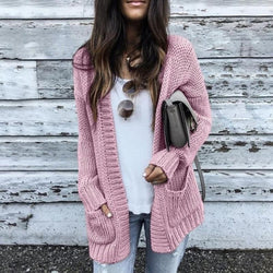 Women Fashion Trend Soft Solid Sweater
