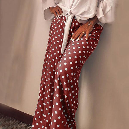 Casual Daily Polka Dot Loose Pants