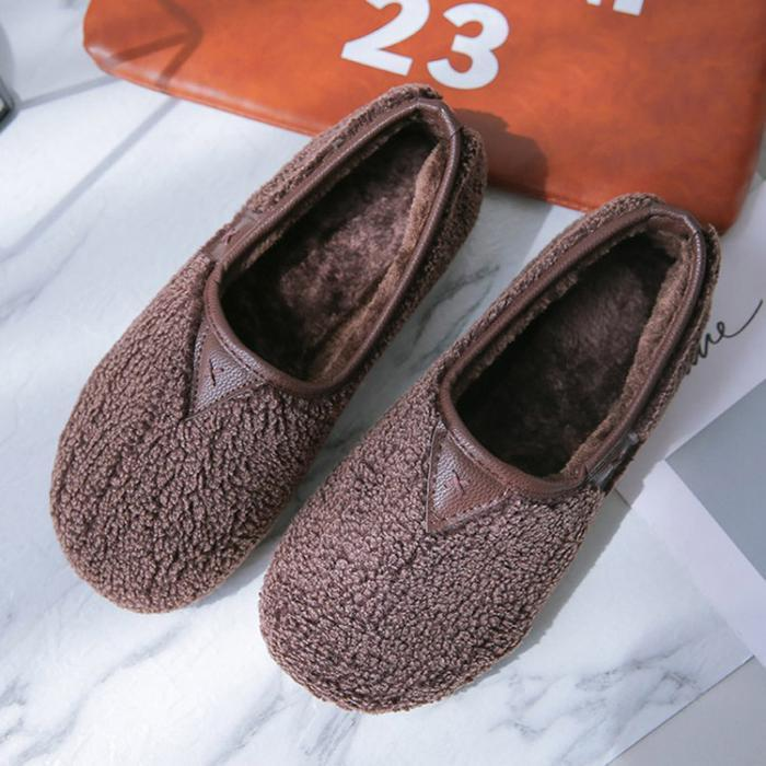 Soft Comfort Shoes Plush Slip On Warm Loafers