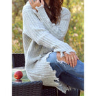 Casual Plain Hoodie Long Sleeve Sweater