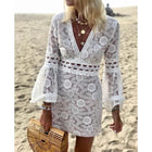 Boho Women Hollowed-out Long Sleeve Sexy Dresses