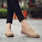 Suede Pure Color Lazy Casual Flat Shoes