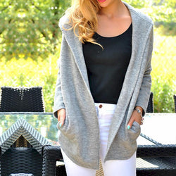 Casual Loose Long Sleeve Solid Soft Sweater
