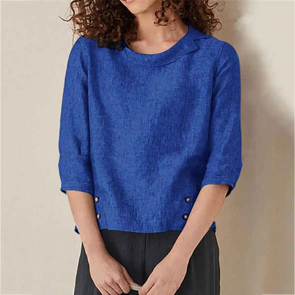 Women's Clothing Casual Solid Color Blouse