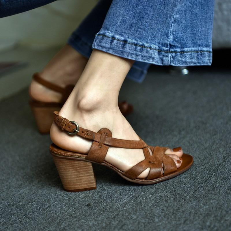 Buckle Open Toe Chunky Sandals
