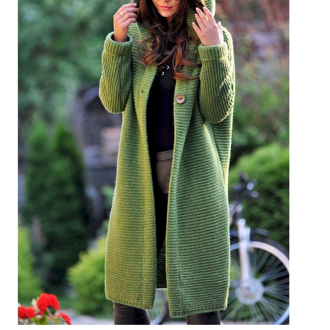 Casual Solid Color Long-Sleeve Knitting Coats