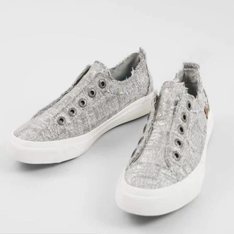 Women's Shoes in Silvery Glam Weave