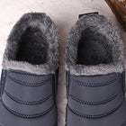 Winter Warm Fur Lining Slip On Flat Waterproof Ankle Snow Boots