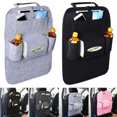 Universal Car Seat Back Storage Bag Multi-Pocket Hanging Holder Tidy Organizer Storage Shelves Bins