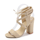Women's Thick Heel Laced High Heels Sandals
