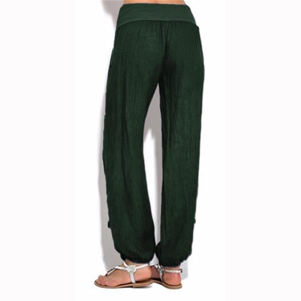 Casual Solid Color Loose Harem Pants