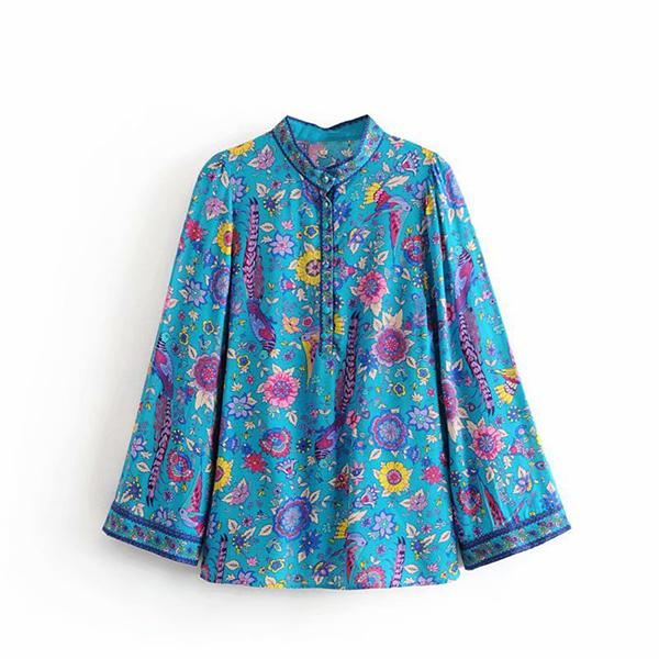 Fashion Floral Printing Blouse
