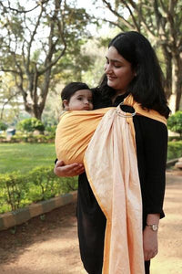 Goldfinch:  Single Layer Linen Ring Sling