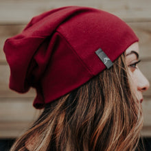 Load image into Gallery viewer, Deep Cranberry Beanie