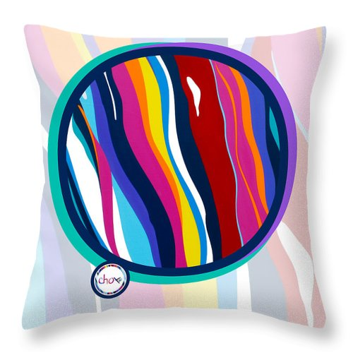 Abstract Harmony Vision - Throw Pillow