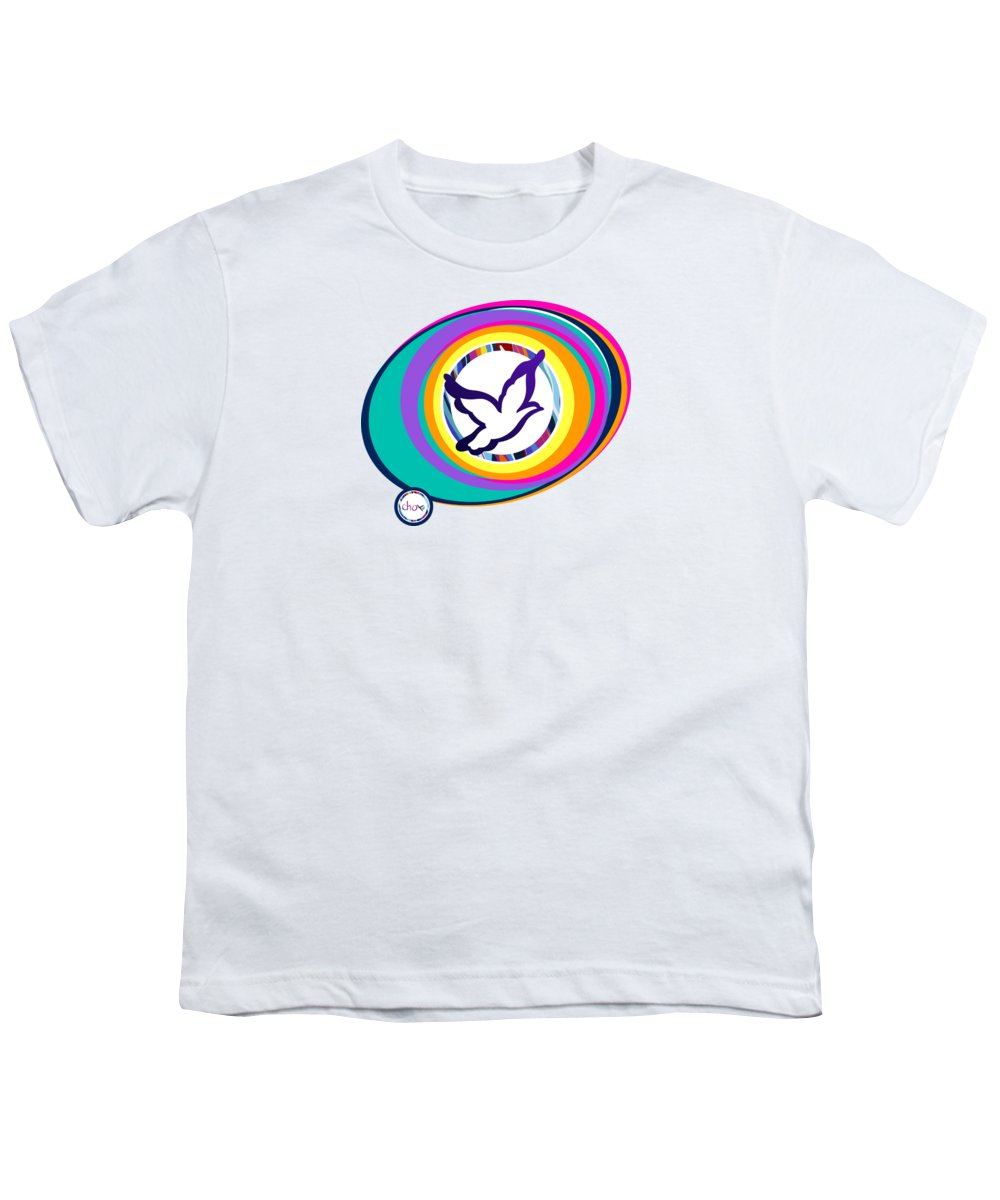 Psychedelic Dove Vortex - Youth T-Shirt