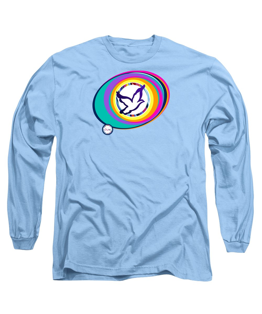 Psychedelic Dove Vortex - Long Sleeve T-Shirt