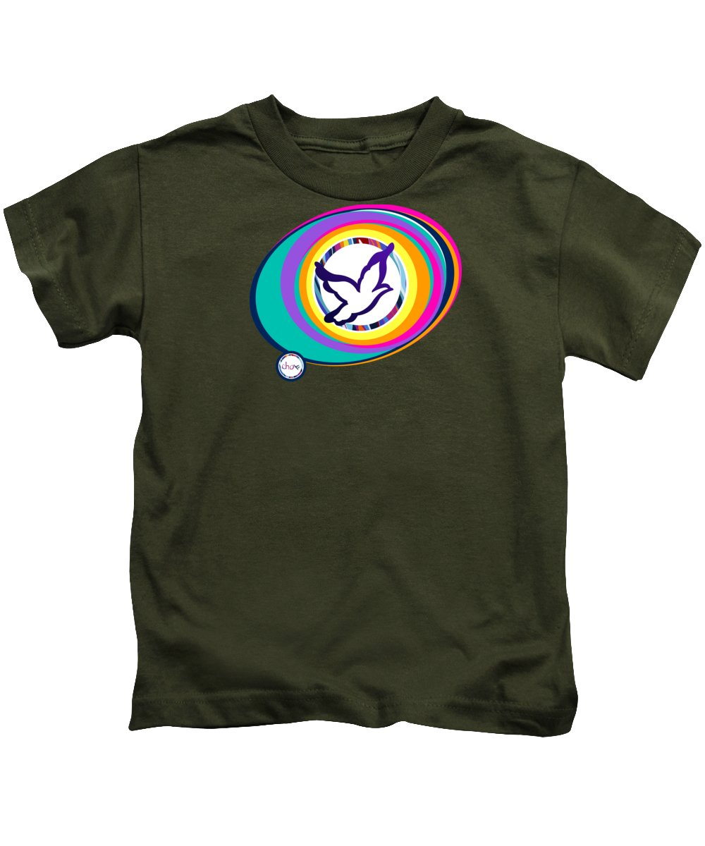 Psychedelic Dove Vortex - Kids T-Shirt