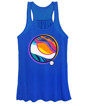 Abstract Sunset Circle - Women's Tank Top