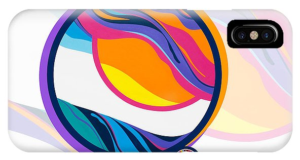 Abstract Sunset Circle - Phone Case