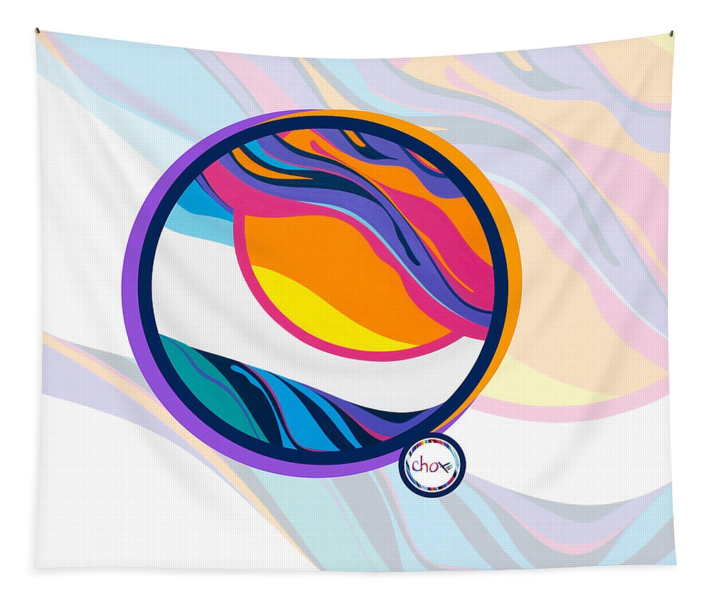 Abstract Sunset Vision - Wall Tapestry