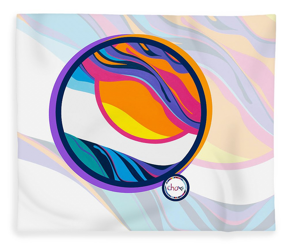 Abstract Sunset Circle - Blanket
