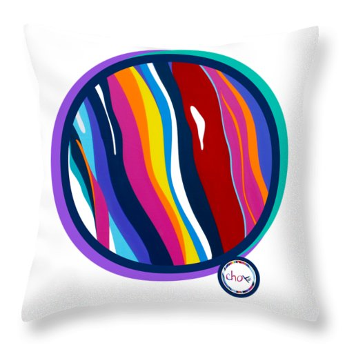 Abstract Harmony Circle - Throw Pillow