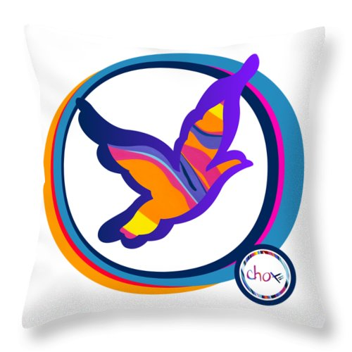 Psychedelic Dove - Throw Pillow
