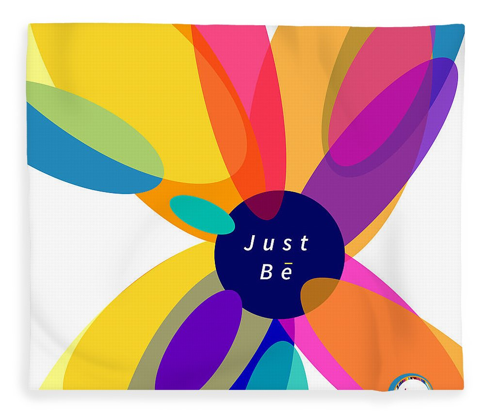 Just Be - Kaleidoscope - Throw Blanket