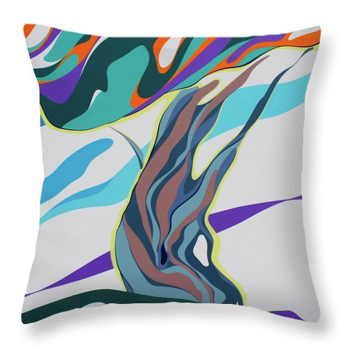 Abstract Landscape - Throw Pillow