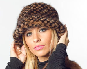 Two Tone Mink Hat