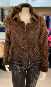 Knit Mink Jacket