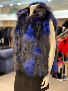 Fox Fur Zip Up Vest
